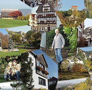 Quite located Bed and Breakfast in Thuringa Germany, with perfect view, spa in town, medieval casle near by