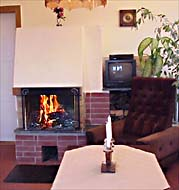 open fire place in the Apartment  in  Germany Thuringa